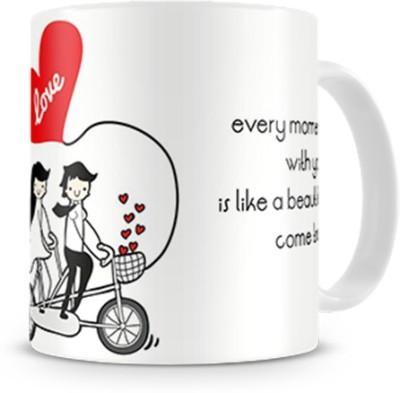 Print Haat Love Ride Ceramic Mug
