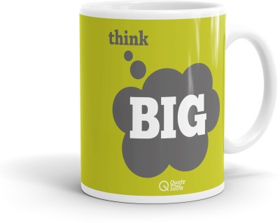 QuoteSutra Think Big Inspiring Quote  Ceramic Mug
