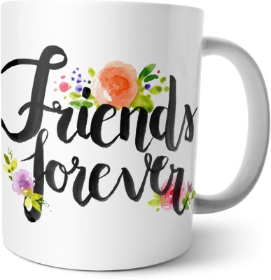 Chiraiyaa Happy Friendship Day - Painted Friends Forever with dots design Ceramic Mug