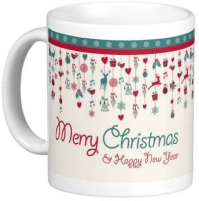 Easyhome Merry Christmas & New Year Celebration 350 ml Ceramic Mug