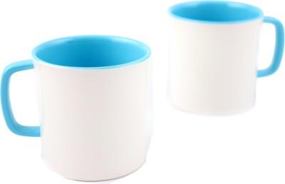 Hi Luxe Ivory Melamine 42248 Ivory - Blue Melamine Mug
