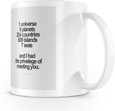 posterchacha I Had The Privilege Of Meeting You White Tea And Coffee For Gift Use For Friend Bone China Mug
