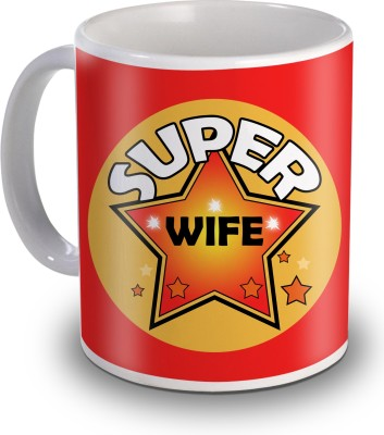 Sky Trends Super Wife Gifts For Valentine,s Ceramic Mug