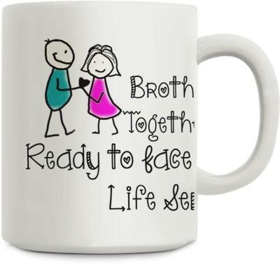 Gifts By Meeta Brother Sister Together Rakhi Gift Ceramic Mug