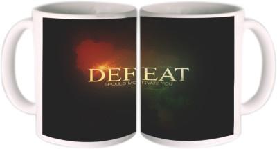 Shopkeeda Defeat Should motivate You Ceramic Mug