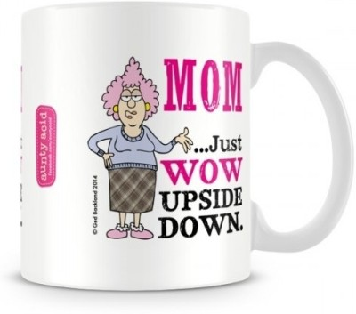 Aunty Acid Mom is WOW Ceramic Mug