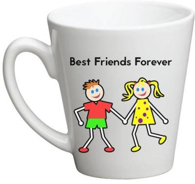 Huppme Best Friend Forever Conical  Ceramic Mug