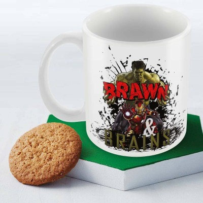 Posterboy Brawn & Brains - Avengers Officially Licensed (Pack Of 1) Ceramic Mug