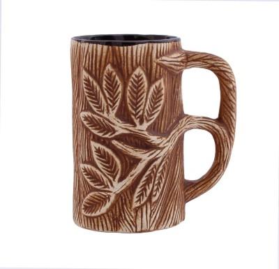 Aarzool 3D Flower Print Vintage Ceramic Mug