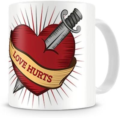 Print Haat Love Hurts Ceramic Mug