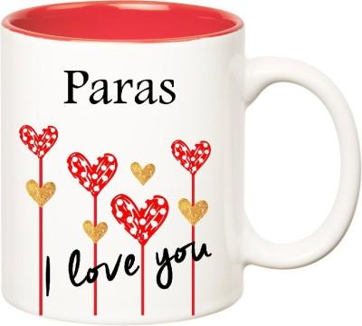 Huppme I Love You Paras Inner Red  (350 ml) Ceramic Mug