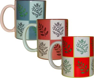 CreativesKart Set Of Three Ceramic Mug