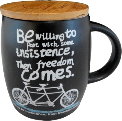 GeekGoodies Black Large Coffee Cycle Ceramic Mug