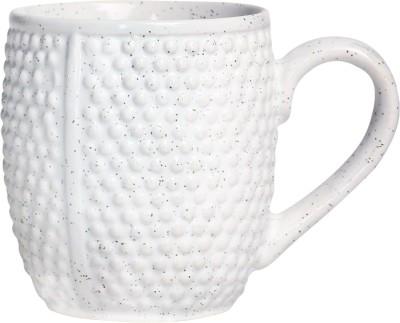 caffeine Coffee  Ceramic in White Doodle Platform (Set of 1) Ceramic Mug