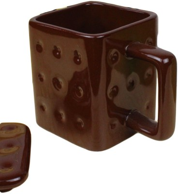 GeekGoodies Biscuit Brown Ceramic Mug
