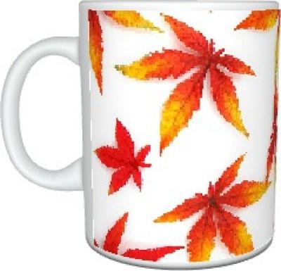 Creatives Orange Leaves Ceramic Mug