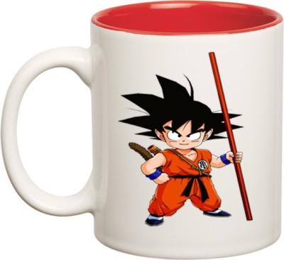 Huppme Gohan Dragon Ball Z Inner Red  Ceramic Mug