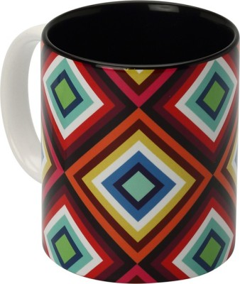 The Elephant Company Diamond Symmetry Coffee  Ceramic Mug