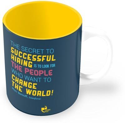 Thinkpot The Secret To Successful Hiring - Marc Benioff, Salesforce Ceramic Mug