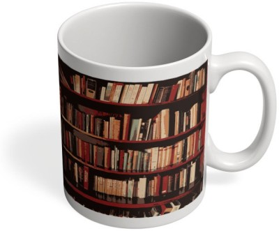 PosterGuy Bookshelves Geeky,Nerdy,Book,Booklovers,Gift For Book Lovers,Bookshelves Ceramic Mug