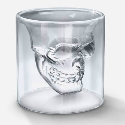 GoGifts Doomed Skull Shot Glass Glass Mug