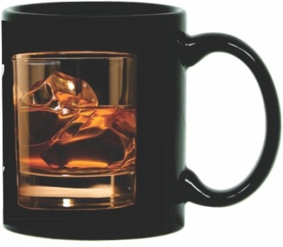 Printland Printland Stay Happy Black Coffee  350 - ml Ceramic Mug