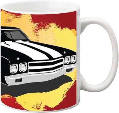ezyPRNT Vintage Car Ceramic Mug