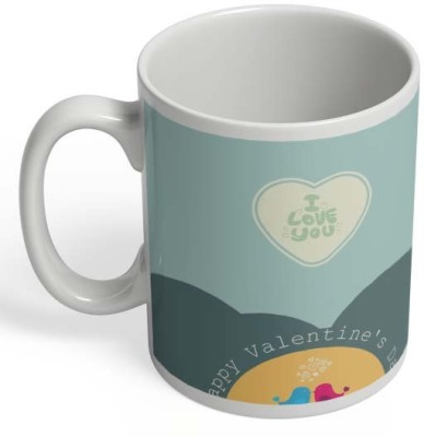 PosterGuy Two Blue & Pink Birds With I Love You Ceramic Mug