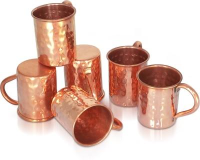 Dungri India Craft Set of 6, 100 % copper hammered 70 ML / 2.3 oz SHOT Moscow Mule Vodka  - Cocktail SHOT MUG Copper Mug