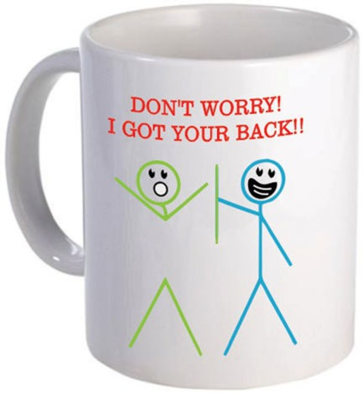 Giftsmate Cute I Got Your Back Friends Ceramic Mug(330 ml)