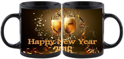 Shoperite cheers with beer party happy new year Ceramic Mug
