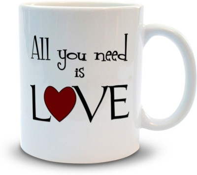 Shoppers Bucket All you Need is Love Ceramic Mug