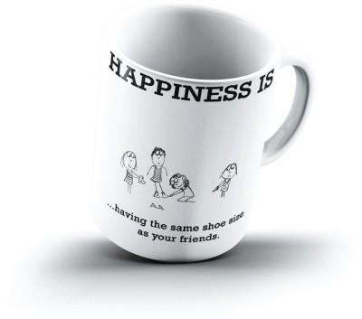 Ucard Happiness Is1689 Bone China, Ceramic, Porcelain Mug