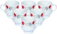 CLAY CREATIONS BC-6PAX100-100-100-100-100 Bone China Mug(150 ml, Pack of 6)
