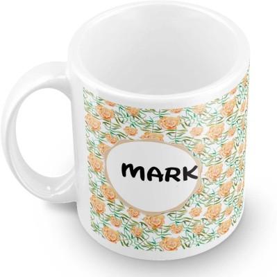 posterchacha Mark Floral Design Name  Ceramic Mug