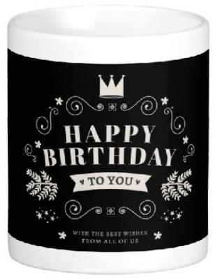 Easyhome Happy Birthday To You Ceramic Mug