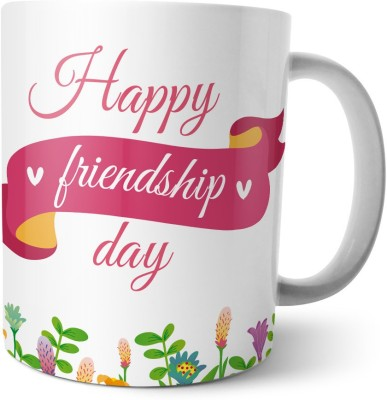 Chiraiyaa Happy Friendship Day - with tag and quote on best friend. Ceramic Mug