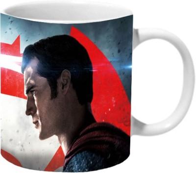 Mooch Wale Batman Vs Superman Poster Ceramic Mug