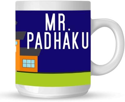 Huppme Mr. Padhaku White  Ceramic Mug