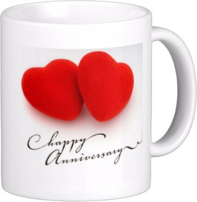Exoctic Silver Happy Marriage Anniversary : Qw19 Ceramic Mug