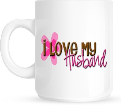 Huppme I Love My Husband White Ceramic Mug