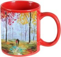 Printland Printland Long Walk Red Coffee 350 - ml Ceramic Mug best price on Flipkart @ Rs. 349