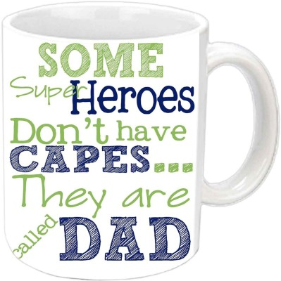 RajLaxmi My Dad Is MY Superhero White  Ceramic Mug