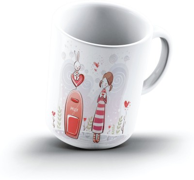 Ucard Post And Love1044 Bone China, Ceramic, Porcelain Mug