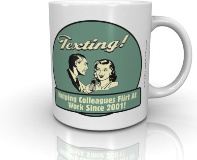 Bcreative Texting! Helping Colleagues Flirt At Work Since 2001! (Officially Licensed) Ceramic Mug