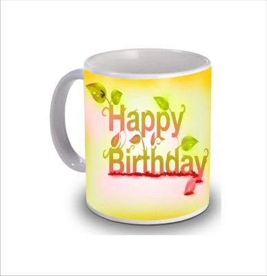 Print Hello Happy Birthday Cake b257 Ceramic Mug