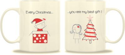 TwoGud Every Christmas You Are My Best Gift Bone China Mug