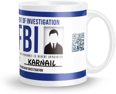 posterchacha Karnail FBI ID Tea And Coffee Ceramic Mug(300 ml)