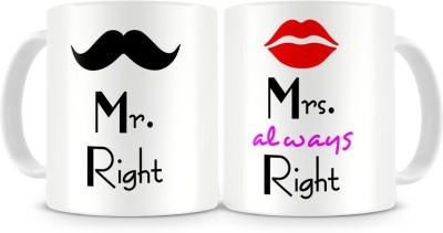 Fantaboy Mr. & Mrs. Right Couples Ceramic Mug