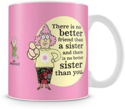 Tashanstreet Aunty Acid - Sister is my best friend Ceramic Mug
